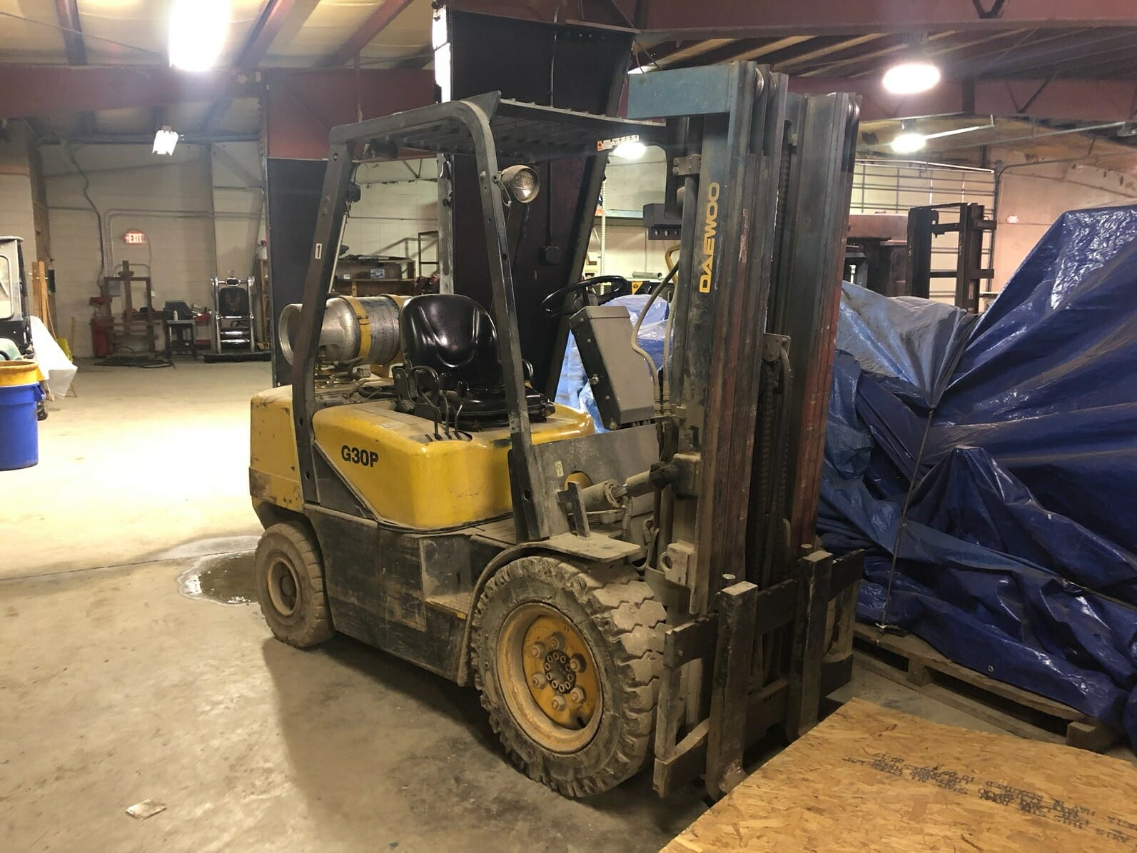 6,000 lb. Capacity Daewoo Forklift For Sale 3 Ton