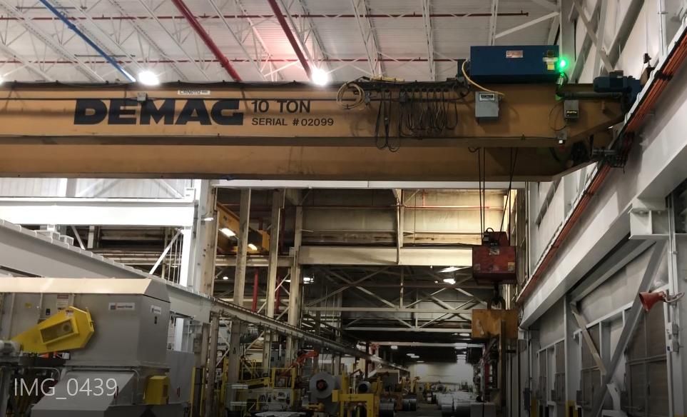 10 Ton Demag Overhead Bridge Crane For Sale