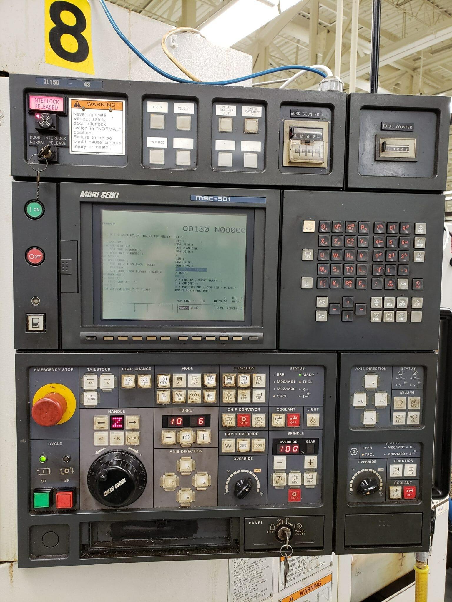 Mori Seiki ZL150 CNC Lathe For Sale