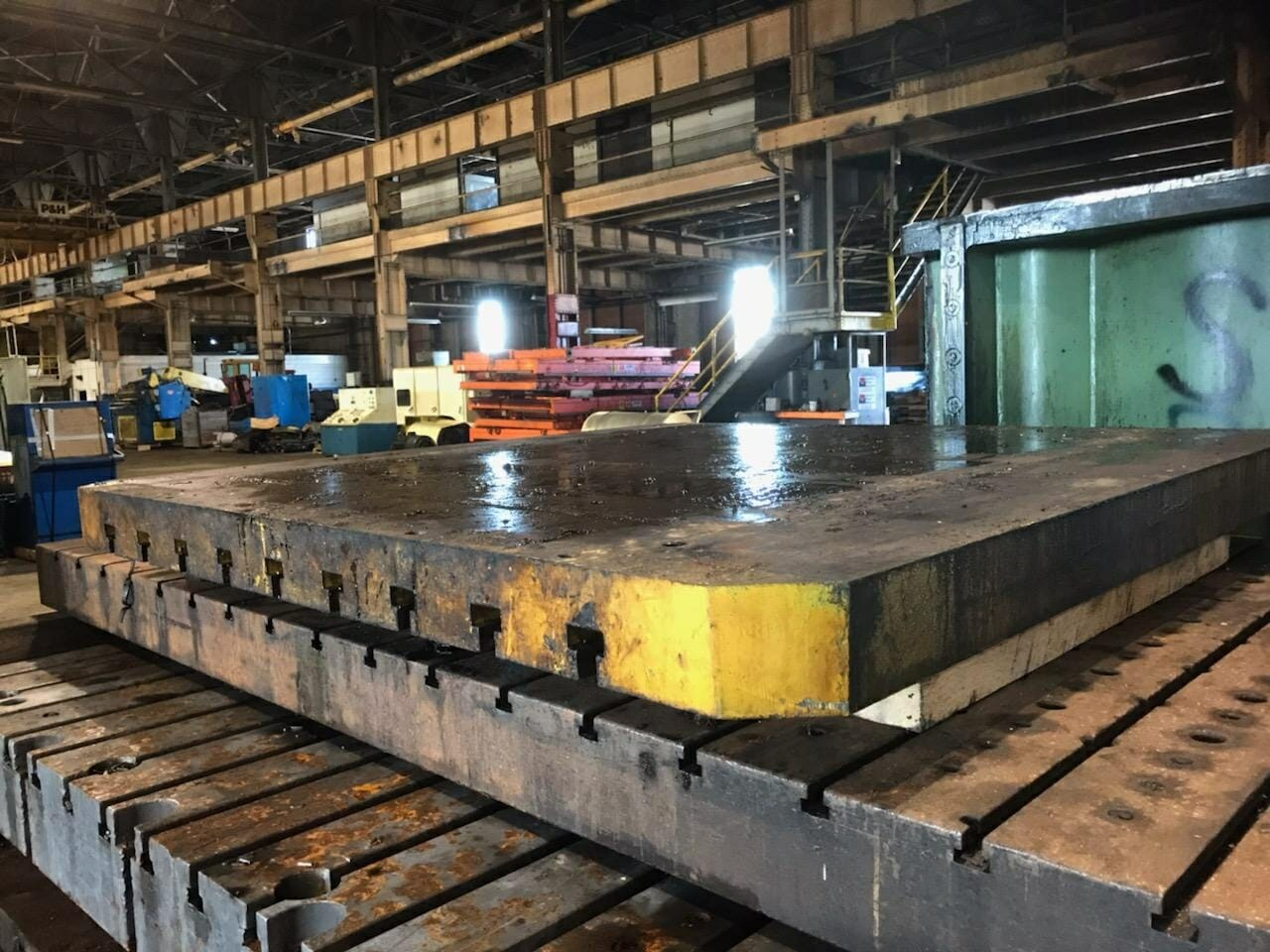 Used T-Slotted Bolster Plate For Sale