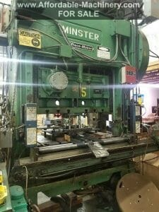 100 Ton Capacity Minster P2-100 Straight Side Press