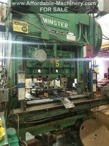 100 Ton Capacity Minster P2-100 Straight Side Press
