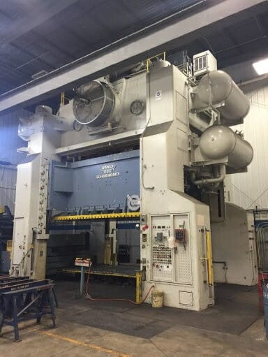 2,000 Ton Capacity Danly Straight Side Press