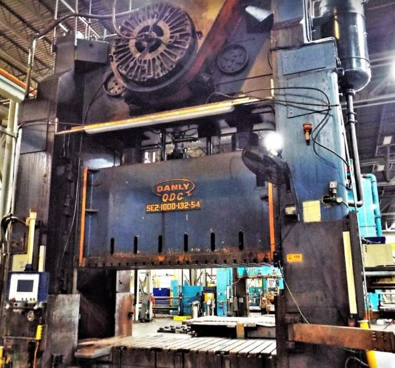 1,000 Ton Capacity Danly Straight Side Press For Sale