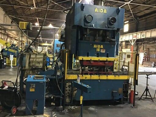 176 Ton CapacityAida 2-Point Gap Frame Press For Sale