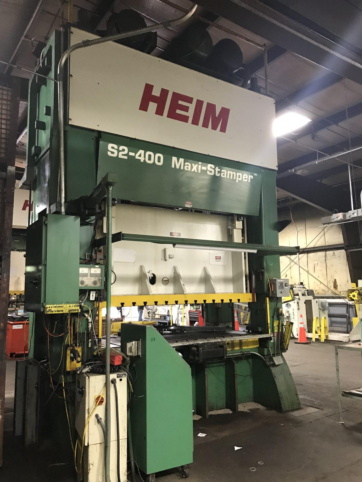 400 Ton Capacity Heim Straight Side Press For Sale
