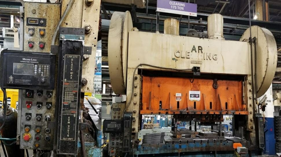 175 Ton Capacity Clearing Straight Side Press For Sale