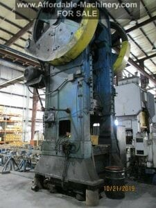 950 Ton Capacity Bliss Straight Side Single Point Press For Sale