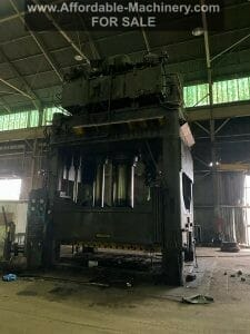 1,500 Ton Capacity Erie Straight Side Down-Acting Hydraulic Press For Sale