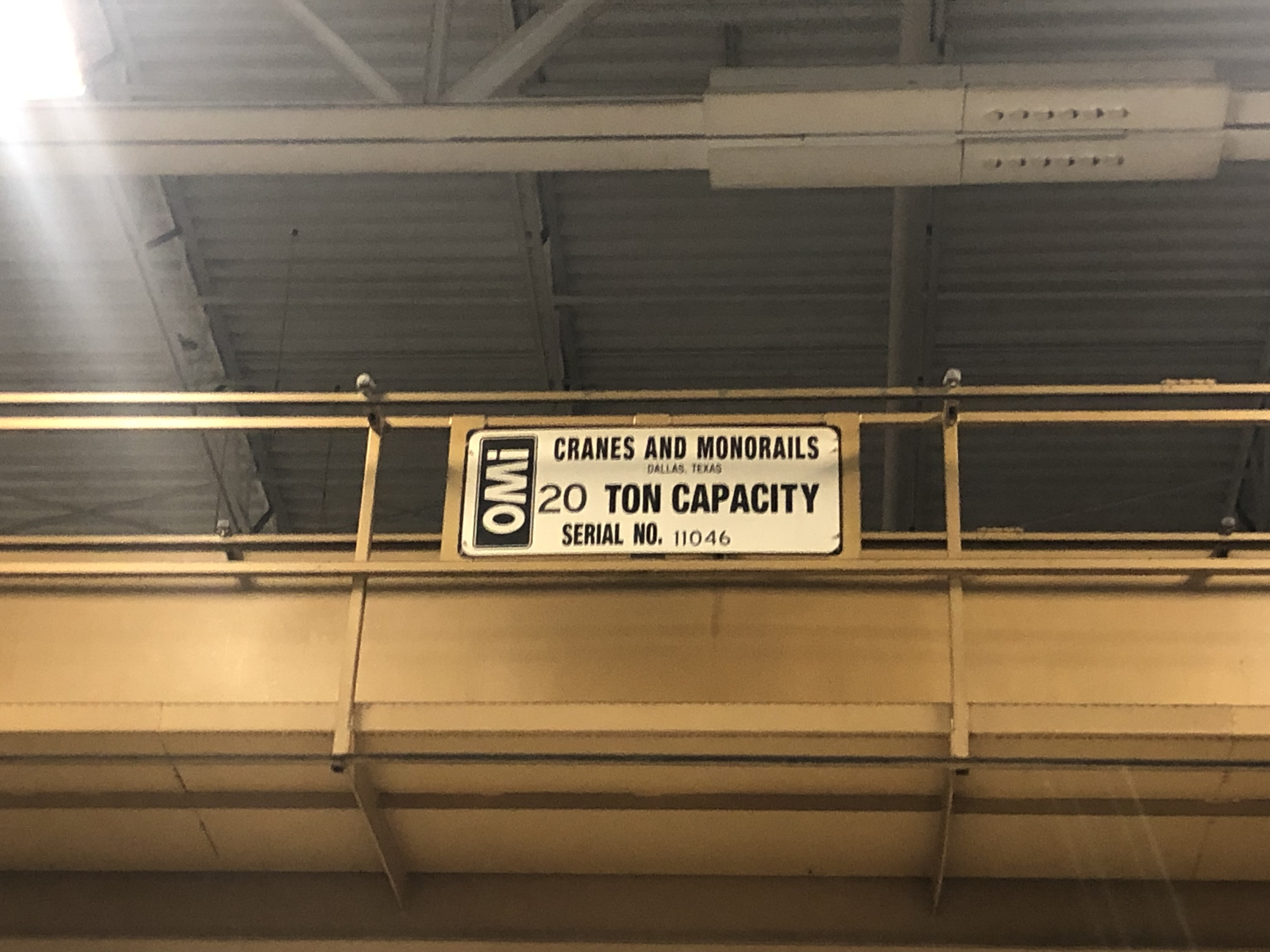 20 Ton Capacity OMI Overhead Bridge Crane For Sale