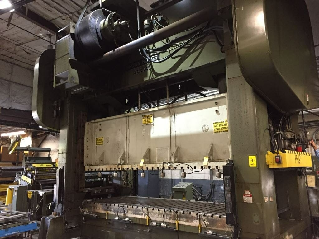 600 Ton Brown and Boggs Straight Side Press For Sale
