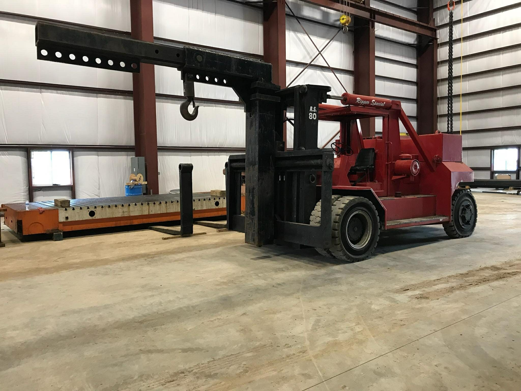 80,000 lbs Bristol Forklift - Model RS80 - For Sale