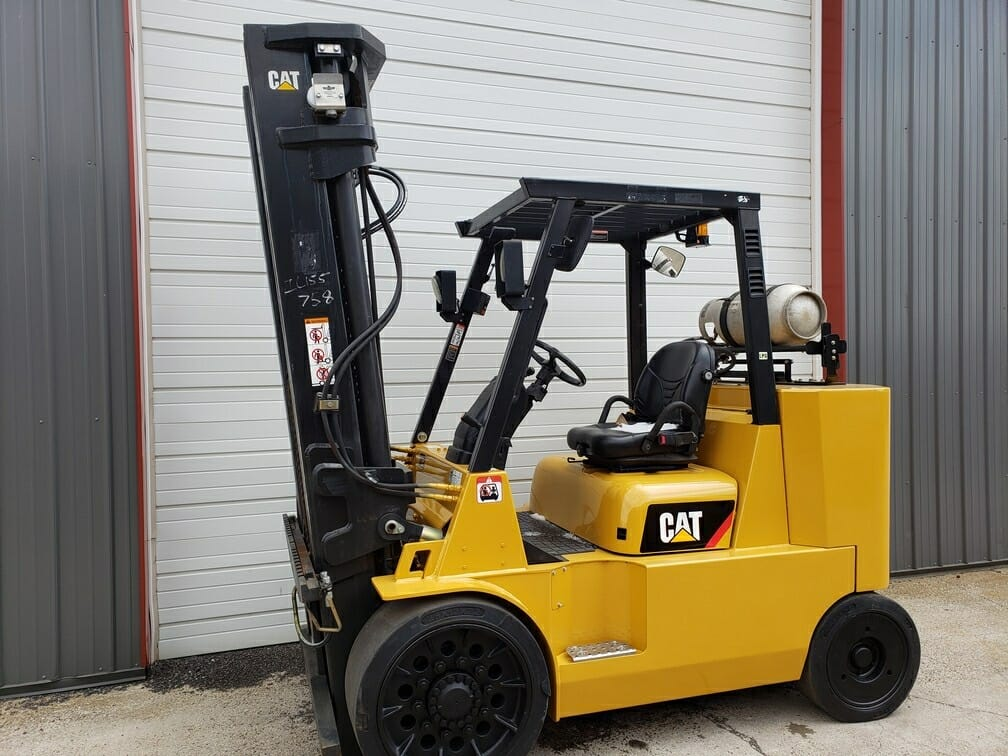 15,500 lbs Capacity Cat Forklift Box Car Special - Model GC70KS - For Sale