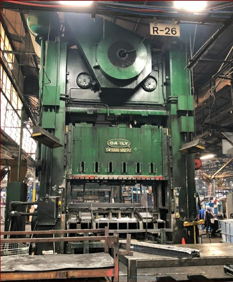 1,000 Ton Danly Straight Side Press For Sale